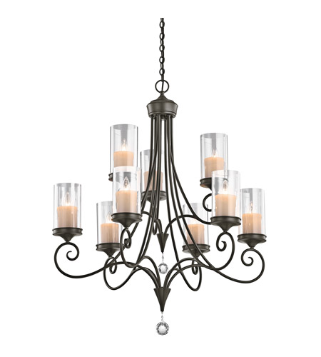 Kichler Lighting Lara 9 Light Chandelier in Shadow Bronze 42863SWZ