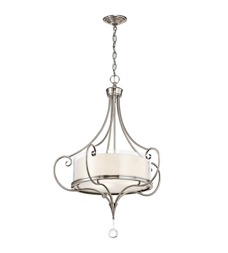 Kichler 42864CLP Lara 3 Light 24 inch Classic Pewter Inverted Pendant Ceiling Light photo