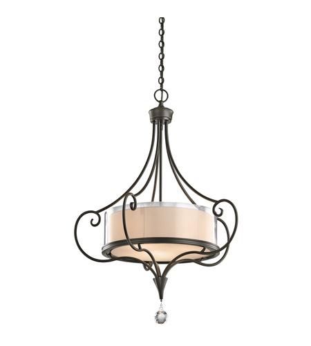 Kichler 42864SWZ Lara 3 Light 24 inch Shadow Bronze Inverted Pendant Ceiling Light photo