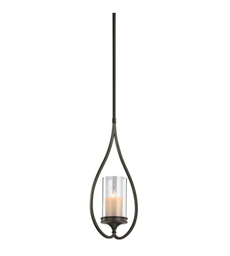 Kichler Lighting Lara 1 Light Mini Pendant in Shadow Bronze 42865SWZ
