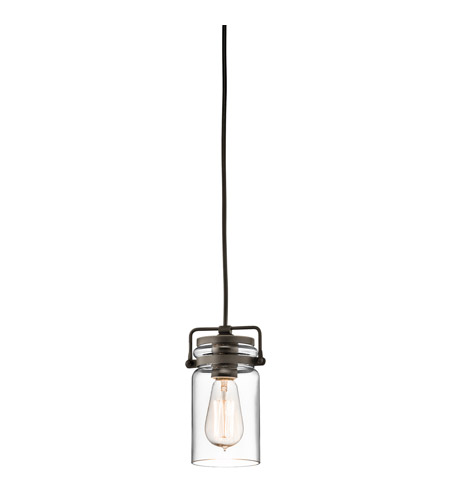 Kichler Brinley 1 Light Mini Pendant in Olde Bronze 42878OZ