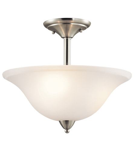 Kichler 42879NI Nicholson 3 Light 16 inch Brushed Nickel Semi-Flush Ceiling Light photo
