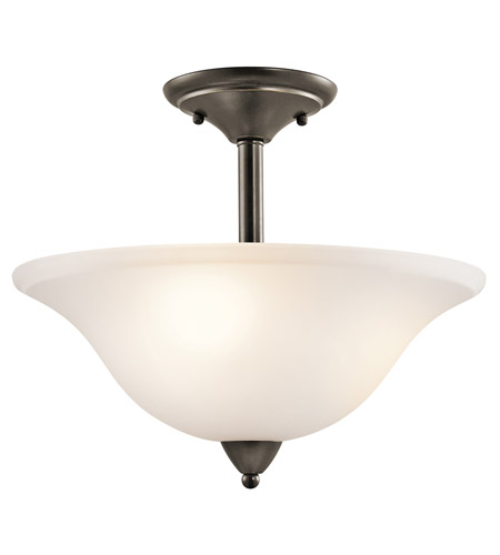 Kichler Lighting Nicholson 3 Light Semi-Flush in Olde Bronze 42879OZ