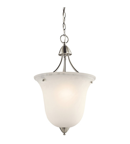 Kichler Lighting Nicholson 1 Light Foyer Chain Hung in Brushed Nickel 42882NI