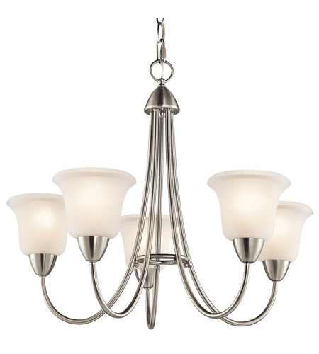 Kichler Lighting Nicholson 5 Light Chandelier in Brushed Nickel 42884NI