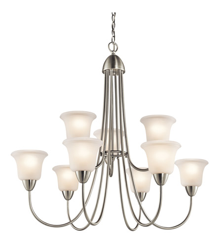 Kichler Lighting Nicholson 9 Light Chandelier in Brushed Nickel 42885NI photo