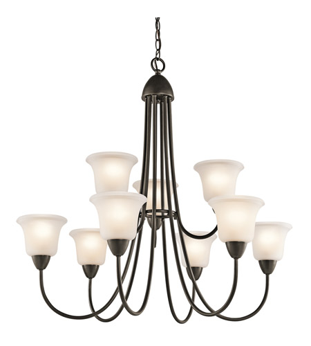 Kichler 42885OZ Nicholson 9 Light 35 inch Olde Bronze Chandelier Ceiling Light photo