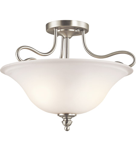 Kichler 42900NI Tanglewood 2 Light 16 inch Brushed Nickel Semi-Flush Ceiling Light photo
