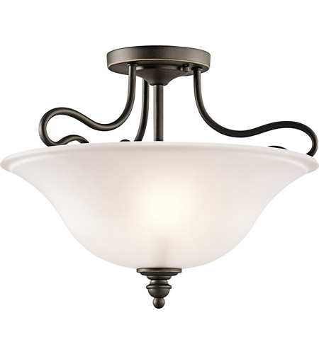 Kichler 42900OZ Tanglewood 2 Light 16 inch Olde Bronze Semi-Flush Ceiling Light photo
