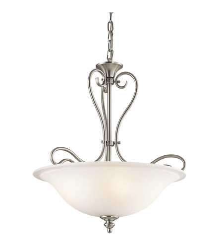 Kichler 42903NI Tanglewood 3 Light 18 inch Brushed Nickel Inverted Pendant Ceiling Light photo