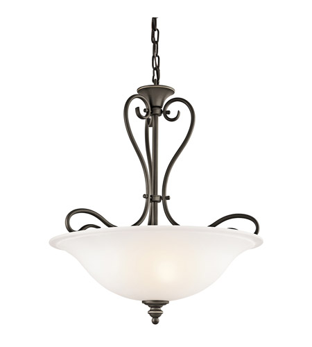 Kichler 42903OZ Tanglewood 3 Light 18 inch Olde Bronze Inverted Pendant Ceiling Light photo