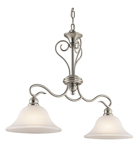 Kichler Lighting Tanglewood 2 Light Island Light in Brushed Nickel 42904NI photo