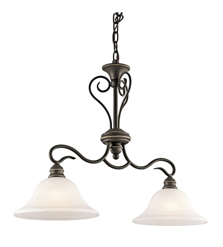 Kichler Lighting Tanglewood 2 Light Island Light in Olde Bronze 42904OZ photo