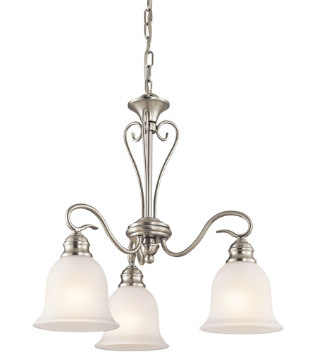 Kichler Lighting Tanglewood 3 Light Chandelier in Brushed Nickel 42905NI photo