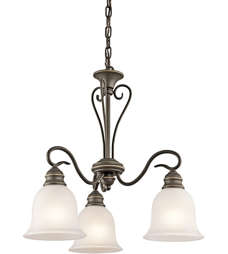 Kichler 42905OZ Tanglewood 3 Light 20 inch Olde Bronze Chandelier Ceiling Light photo