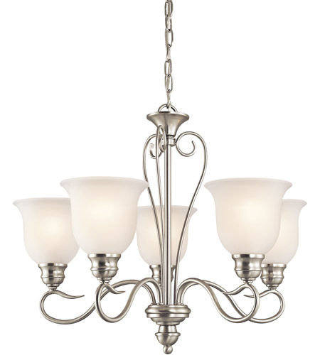 Kichler 42906NI Tanglewood 5 Light 24 inch Brushed Nickel Chandelier Ceiling Light photo