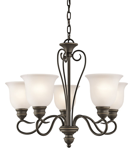 Kichler Lighting Tanglewood 5 Light Mini Chandelier in Olde Bronze 42906OZ photo