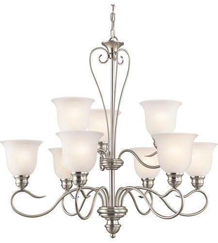 Kichler Lighting Tanglewood 9 Light Chandelier in Brushed Nickel 42907NI photo