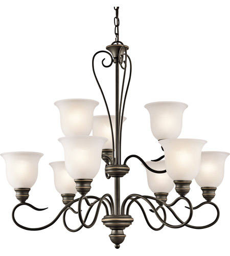 Kichler Lighting Tanglewood 9 Light Chandelier in Olde Bronze 42907OZ photo