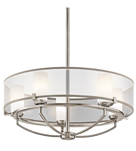 Kichler Lighting Saldana 5 Light Chandelier in Classic Pewter 42921CLP photo