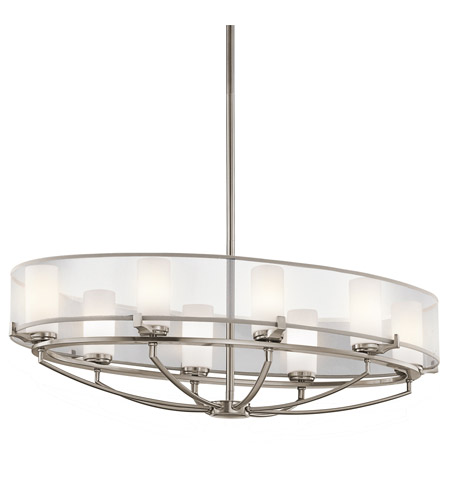 Kichler Lighting Saldana 8 Light Chandelier in Classic Pewter 42922CLP