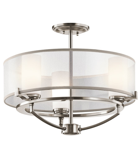 Kichler 42923CLP Saldana 3 Light 18 inch Classic Pewter Chandelier Ceiling Light photo