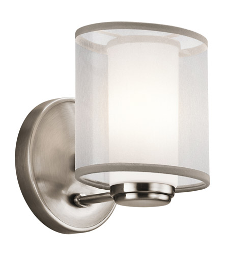 Kichler Lighting Saldana 1 Light Wall Sconce in Classic Pewter 42924CLP