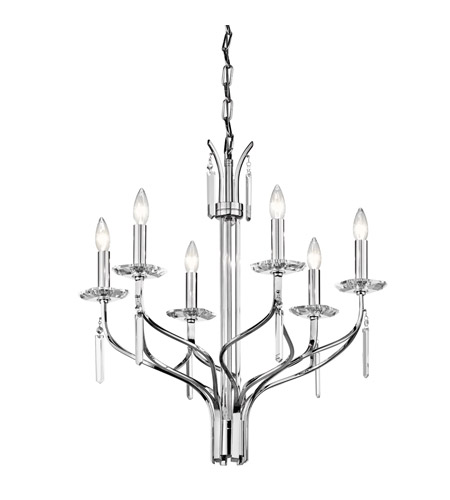 Kichler Lighting Aliso 6 Light Chandelier in Chrome 42927CH photo