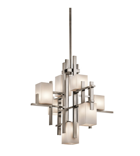 Kichler 42940CLP City Lights 7 Light 23 inch Classic Pewter Chandelier Ceiling Light photo