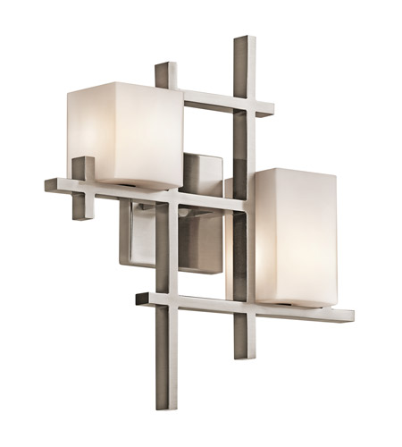 Kichler Lighting City Lights 2 Light Wall Sconce in Classic Pewter 42942CLP