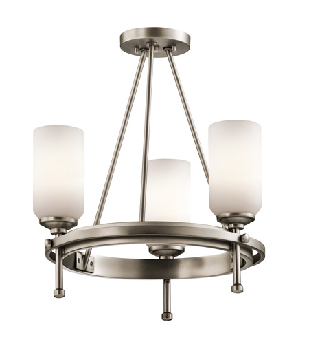 Kichler Lighting Ladero 3 Light Convertible Semi Flush Chandelier in Antique Pewter 42944AP photo
