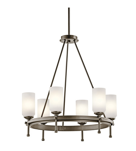 Kichler Lighting Ladero 6 Light Chandelier in Shadow Bronze 42947SWZ photo