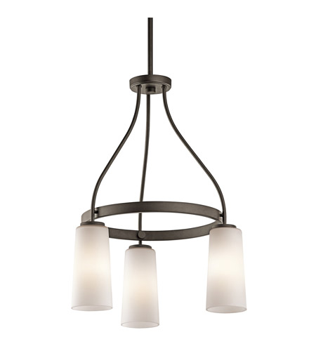 Kichler Lighting Whitley 3 Light Chandelier in Olde Bronze 42976OZ photo