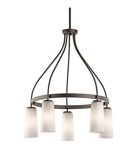 Kichler Lighting Whitley 5 Light Chandelier in Olde Bronze 42977OZ photo