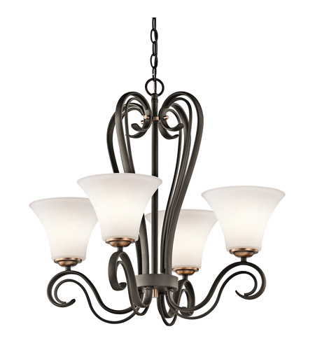Kichler Lighting Claridge Court 4 Light Chandelier in Olde Bronze 42985OZ photo