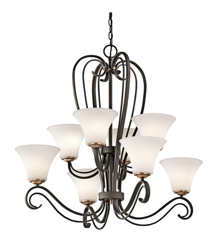 Kichler Lighting Claridge Court 8 Light Chandelier in Olde Bronze 42986OZ photo