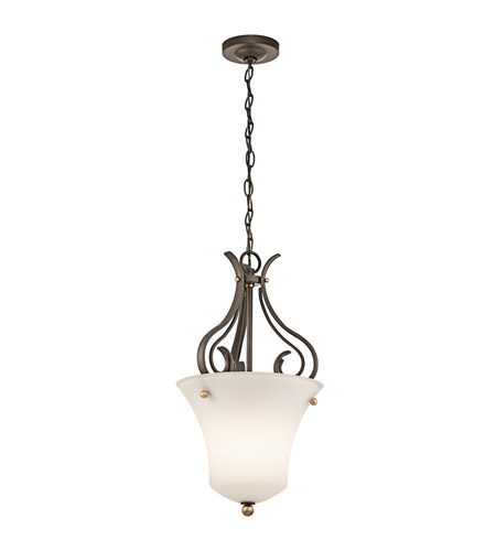Kichler Lighting Claridge Court 1 Light Foyer Chain Hung in Olde Bronze 42990OZ