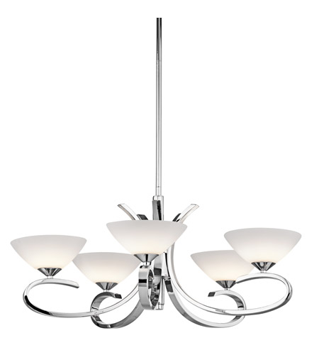 Kichler Lighting Brooklands 5 Light Chandelier in Chrome 43021CH photo