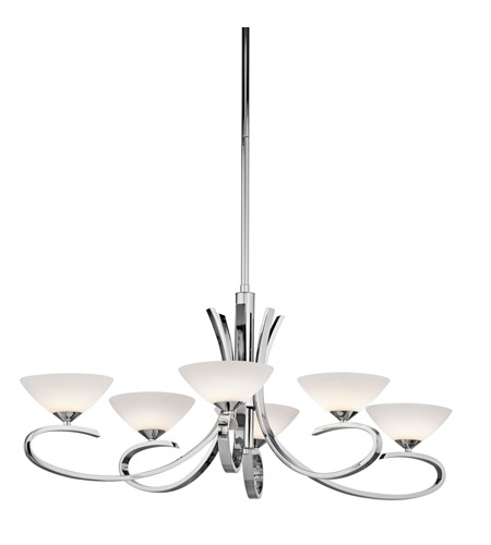 Kichler 43022CH Brooklands 6 Light 21 inch Chrome Chandelier Ceiling Light photo