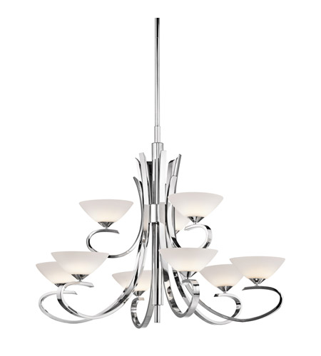 Kichler 43023CH Brooklands 9 Light 33 inch Chrome Chandelier Ceiling Light photo
