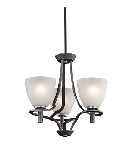 Kichler Lighting Neillo 3 Light Chandelier in Anvil Iron 43025AVI