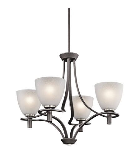 Kichler Lighting Neillo 4 Light Chandelier in Anvil Iron 43026AVI photo