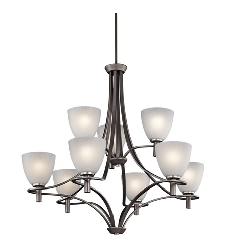 Kichler Lighting Neillo 9 Light Chandelier in Anvil Iron 43027AVI photo