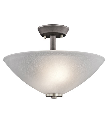 Kichler Lighting Neillo 2 Light Semi-Flush Mount in Anvil Iron 43029AVI