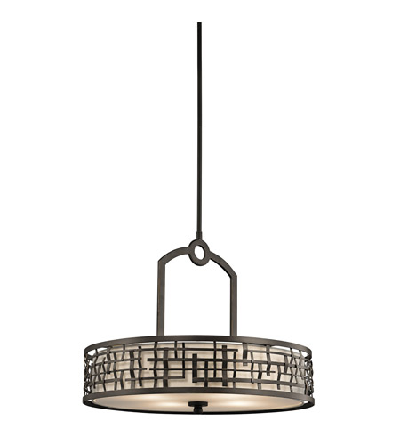 Kichler Lighting Loom 4 Light Pendant in Olde Bronze 43047OZ photo