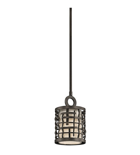 Kichler 43048OZ Loom 1 Light 6 inch Olde Bronze Mini Pendant Ceiling Light photo
