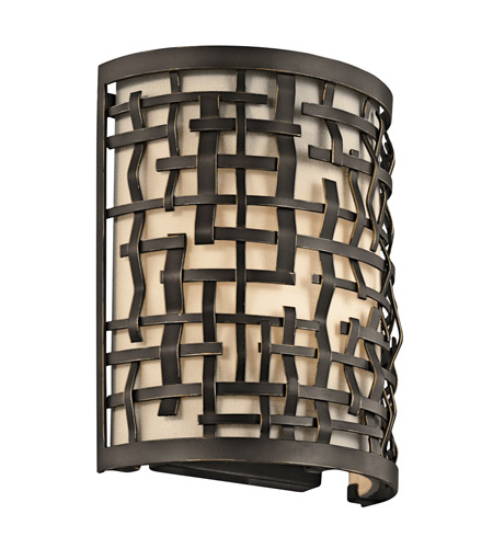 Kichler Lighting Loom 1 Light Wall Sconce in Olde Bronze 43050OZ photo