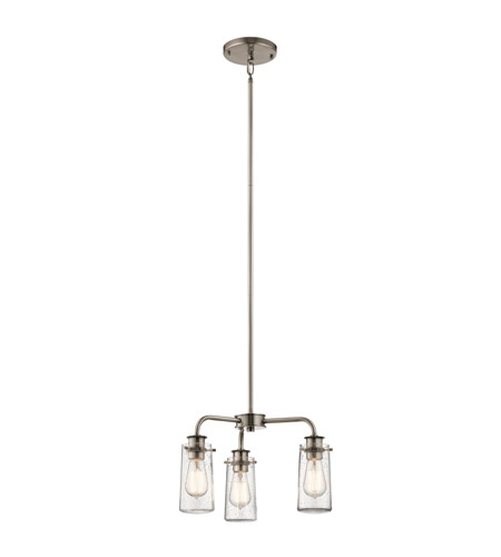 Kichler 43057CLP Braelyn 3 Light 18 inch Classic Pewter Chandelier Ceiling Light photo
