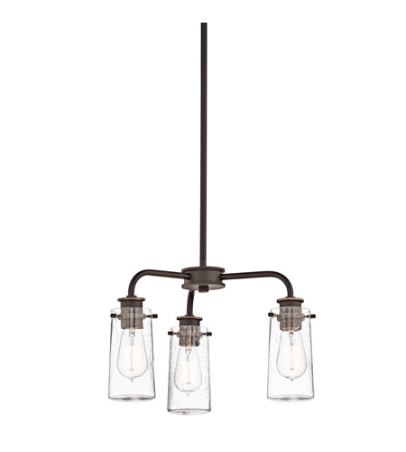 Kichler Lighting Braelyn 3 Light Convertible Semi Flush Chandelier in Olde Bronze 43057OZ