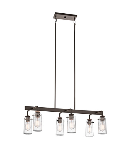 Kichler Lighting Braelyn 6 Light Double Linear Chandelier in Olde Bronze 43059OZ